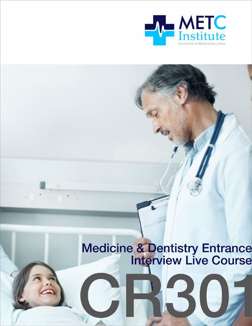 Medicine Interview Live Course (CR301)