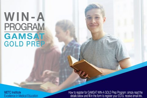 COMPETITION WIN A GOLD GAMSAT Preparation Program METC Institute